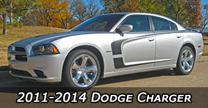 2011-2014 Dodge Charger Vinyl Graphics Decals Stripe Package Kits