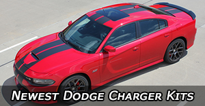 2015 2016 2017 2018 2019 2020 Dodge Charger Vinyl Graphics Decals Stripe Package Kits
