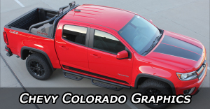 2015 2016 2017 2018 Chevy Colorado Stripes Vinyl Graphics Decals Stripe Package Kits