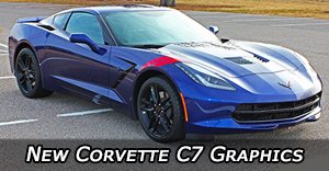 2017 2016 2015 Chevy Corvette Stripes C6 C7 Vinyl Graphics Decals Stripe Package Kits