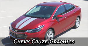 Chevy Cruze Stripes Decals Vinyl Graphics Package Kits