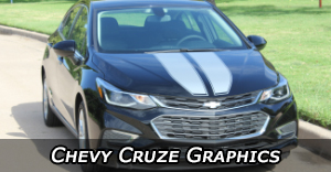 Chevrolet Cruze Stripes, Chevy Cruze Vinyl Graphics, Chevy Cruze Decals and Body Striping Kits.