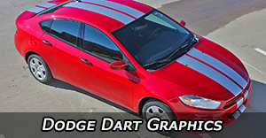 2013 2014 2015 2016 Dodge Dart Stripes Vinyl Graphics Decals Stripe Package Kits