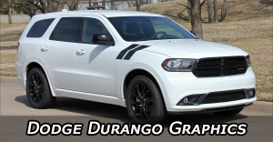 Dodge Durango Stripes, Durango Vinyl Graphics, Durango Hood Decals, and Body Striping Kits