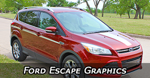 Ford Escape Vinyl Graphics Decals Stripe Package Kits