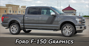 Ford Truck Decals for F-150, F150 Vinyl Graphics, F150 Hood Stripes and Side Door Body Stripe Kits