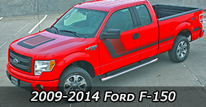 2009 2010 2011 2012 2013 2014 Ford F-150 Vinyl Graphics Decals Stripe Package Kits