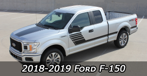 2018 2019 Ford F-150 Stripes Vinyl Graphics Decals Striping Package Kits