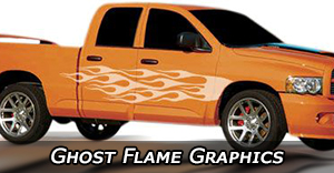 Ghost Flames Vinyl Graphics Decals Stripe Package Kits