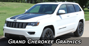 Jeep Grand Cherokee Stripes, Trailhawk Vinyl Graphics, Grand Cherokee Hood Decals, and Body Striping Kits