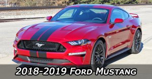 2018 2019 Ford Mustang Stripes Vinyl Graphics Decals Striping Package Kits