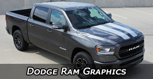Dodge Ram Stripes, Dodge Ram Decals, Dodge Ram Vinyl Graphics, Ram Hood Decals, and Ram Body Striping Kits