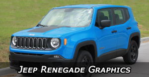 2014-2020 Jeep Renegade Stripes, Jeep Renegade Hood Decals, and Jeep Renegade Vinyl Graphics by MoProAuto Pro Design Series