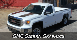 GMC Sierra Stripes, GMC Sierra Vinyl Graphics, GMC Sierra Hood Decals and Body Stripe Kits