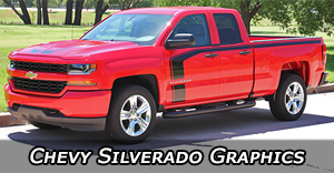 Chevy Silverado Stripes, Silverado Decals, Silverado Vinyl Graphics, with Hood Decals and Body Stripe Kits