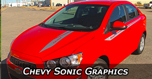 Chevy Sonic Vinyl Graphics Decals Stripe Package Kits