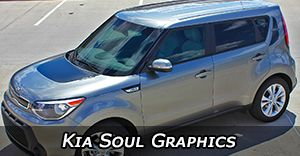 Kia Soul Vinyl Graphics Decals Stripe Package Kits