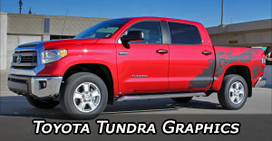 Toyota Tundra Vinyl Graphics, Tundra Hood Decals and Body Striping Kits