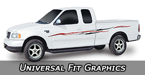 Universal Fit Truck Vinyl Graphics Decals Stripe Package Kits