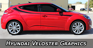 Hyundai Veloster Vinyl Graphics Decals Stripe Package Kits