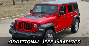 Jeep Stripes - Jeep Vinyl Graphics - Auto Stripes Body Decals - Pin Striping Kits by Model