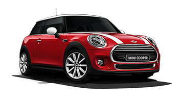 Red Mini Cooper - Ready For Vinyl Graphics Stripes and Decals
