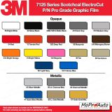 3M 7125 Series Color Options - Wet Installation Vinyl