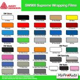 Avery 900 SW Series Supreme Wrap Color Options - Dry Installation Vinyl