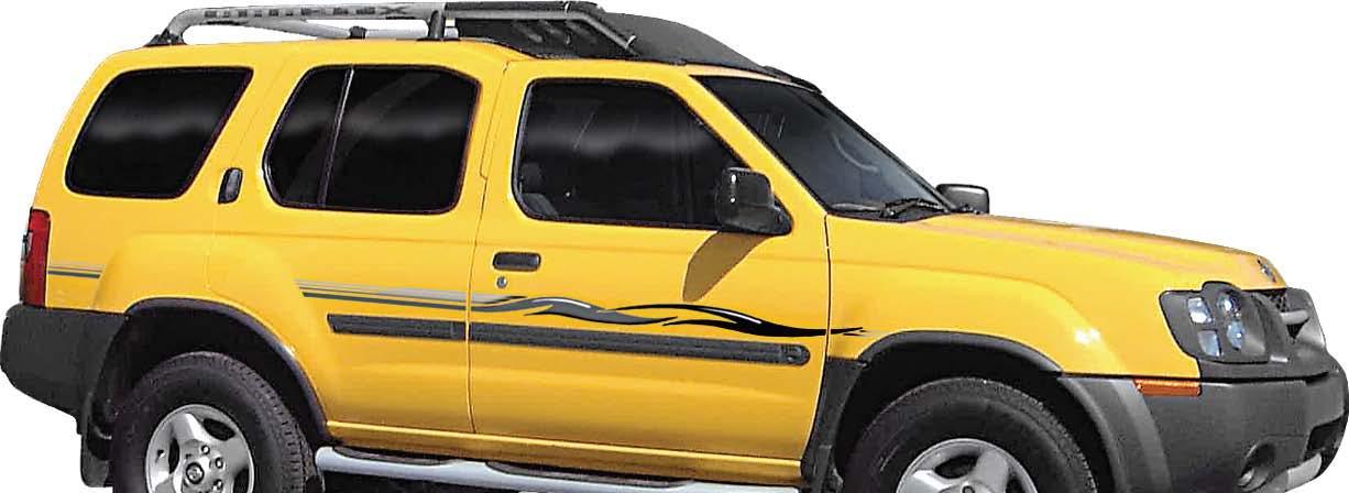 Nissan Frontier Stripes >> ELIXER : Vinyl Graphics Decals Stripes Kit (Universal Fit Shown on Nissan Pathfinder SUV ...