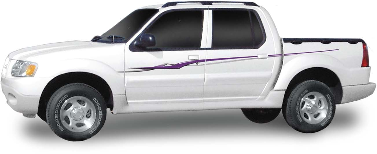 Ford Explorer Sport For Sale >> EXCEL : Vinyl Graphics Decals Stripes Kit (Universal Fit ...