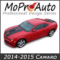 MoProAuto Pro Design Series Vinyl Graphic Decal Stripe Kits for 2014-2015 Chevy Camaro Model Years