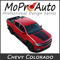 MoProAuto Pro Design Series Vinyl Graphic Decal Stripe Kits for the All New Chevy Colorado Model Year