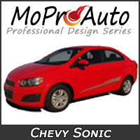 Featuring our MoProAuto Pro Design Series Vinyl Graphic Decal Stripe Kits for 2012-2016 Chevy Sonic