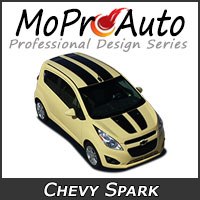 MoProAuto Pro Design Series Vinyl Graphic Decal Stripe Kits for 2013-2016 Chevy Spark