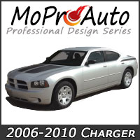 MoProAuto Pro Design Series Vinyl Graphic Decal Stripe Kits for 2006-2010 Dodge Charger