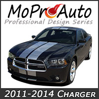MoProAuto Pro Design Series Vinyl Graphic Decal Stripe Kits for 2011-2014 Dodge Charger