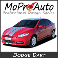 MoProAuto Pro Design Series Vinyl Graphic Decal Stripe Kits for 2013-2016 Dodge Dart