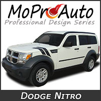 MoProAuto Pro Design Series Vinyl Graphic Decal Stripe Kits for 2007-2011 Dodge Nitro