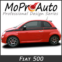 MoProAuto Pro Design Series Vinyl Graphic Decal Stripe Kits for 2010-2015 Fiat 500