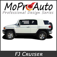 MoProAuto Pro Design Series Vinyl Graphic Decal Stripe Kits for 2007-2015 Toyota FJ Cruiser
