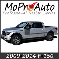 MoProAuto Pro Design Series Vinyl Graphic Decal Stripe Kits for 2009-2014 Ford F-150 Series