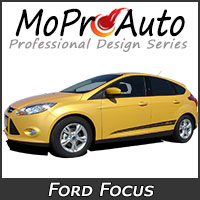 MoProAuto Pro Design Series Vinyl Graphic Decal Stripe Kits for 2005-2016 Ford Focus