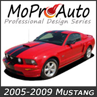 MoProAuto Pro Design Series Vinyl Graphic Decal Stripe Kits for 2005-2009 Ford Mustang