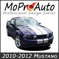 MoProAuto Pro Design Series Vinyl Graphic Decal Stripe Kits for 2010-2012 Ford Mustang