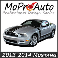 MoProAuto Pro Design Series Vinyl Graphic Decal Stripe Kits for New 2013-2014 Ford Mustang