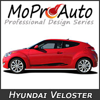 MoProAuto Pro Design Series Vinyl Graphic Decal Stripe Kits for 2011-2016 2017 2018 Hyundai Veloster