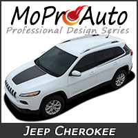 MoProAuto Pro Design Series Vinyl Graphic Decal Stripe Kits for 2013-2016 Jeep Cherokee