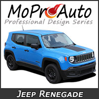 MoProAuto Pro Design Series Vinyl Graphic Decal Stripe Kits for 2014-2016 Jeep Renegade