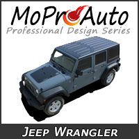 MoProAuto Pro Design Series Vinyl Graphic Decal Stripe Kits for 2007-2020 Jeep Wrangler
