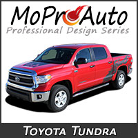 MoProAuto Pro Design Series Vinyl Graphic Decal Stripe Kits for 2007-2016 Toyota Tundra